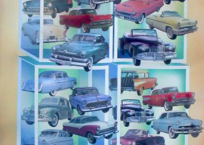 American cars 74x104 cm