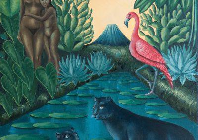 Jaguars in swamps