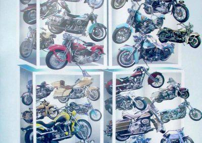 Motobikes 74x104 cm